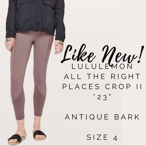 """LIKE NEW Lululemon All The Right Places Crop 23"""""""